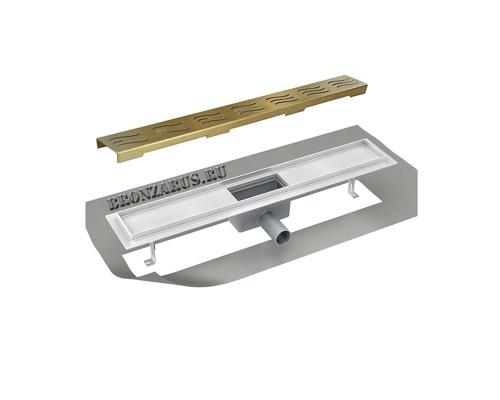 ZR T3 900m 100 Zorg Linear Трап душевой, прямоугольный, защита от запаха 90 см., бронза.
