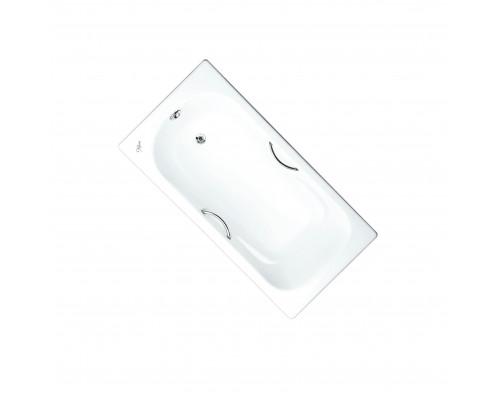 221000 Maroni Colombo Ванна чугунная 160x75 см., с ножками и ручками, белая.