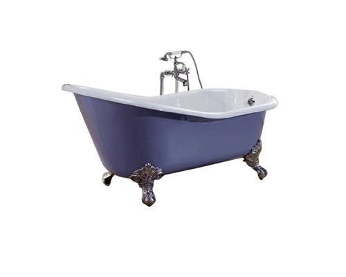 Slipper2 Recor Ванна отдельностоящая, размер 170x76 см, чугун, лапы орла, 2 отверстия под смеситель, белая.
