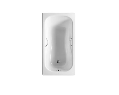 220370001 Roca Princess-N Ванна стальная, прямоугольная, размер 160x75 см., белая.