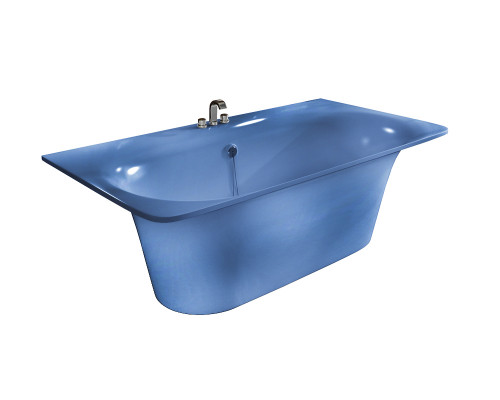 Ванна из литьевого мрамора Astra-Form Прима голубино-синий