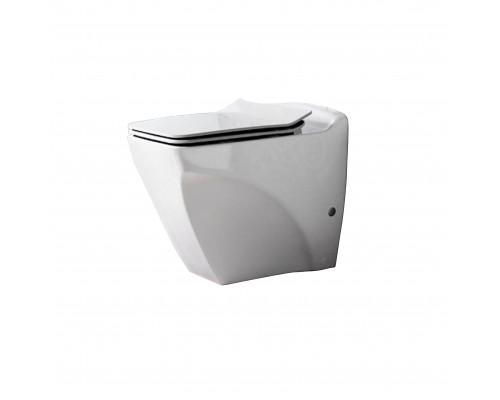 BL350.00100 Creavit Bull Унитаз приставной, с крышкой, керамика, белый.
