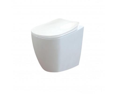 FE350.00100 Creavit Free Унитаз приставной, с крышкой, керамика, белый.