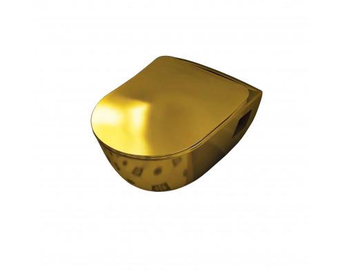 TP325.00110 Creavit Gold Унитаз подвесной, керамика позолоченная, цвет золото.