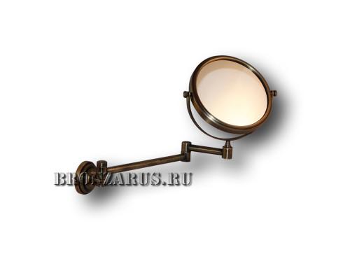 R-28 Classic Retro Зеркало для бритья, косметическое в бронзе.