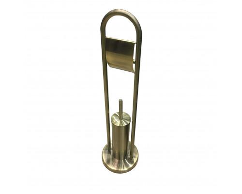 659001 Garcia Стойка напольная, держатель для ерша и бумаги, цвет бронза.