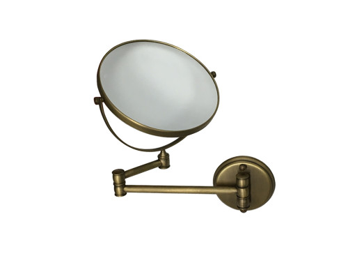 ZO-808.50 BR Zefaro Retro Зеркало для бритья, косметическое в бронзе.