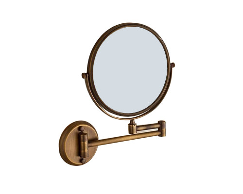 ZO-809.50 BR Zefaro Retro Зеркало для бритья, косметическое в бронзе.