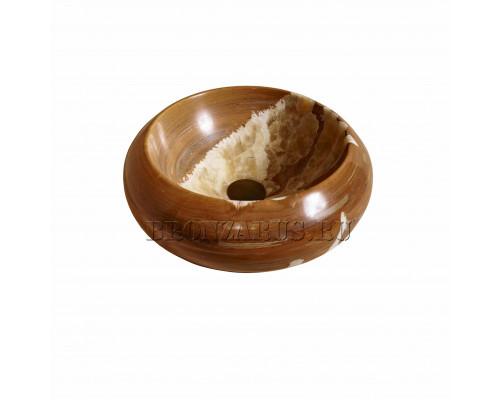 039081111 Bull Раковина накладная, форма круглая, материал оникс, размер 42 см., цвет Bull Brown Honey.