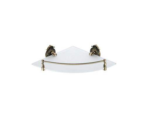 13910-1  HAYTA Gabriel Полка стеклянная угловая в бронзе