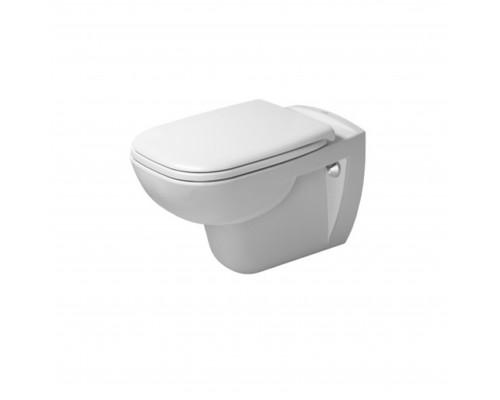 25350900002 Duravit D-Code Унитаз подвесной с внутренним ободком, с обычной крышкой без SoftClose, санфаянс, белый.