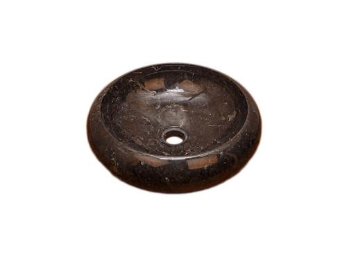 27500 Indo Luna Black Раковина накладная, круглая, материал мрамор, размер 40 см., цвет черный.