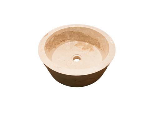 36500 Indo Faisal Cream Раковина накладная, круглая, материал мрамор, размер 40 см., цвет кремовый.