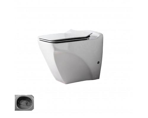 BL350.00000 Creavit Bull Унитаз приставной, с крышкой, с функцией биде, керамика, белый.