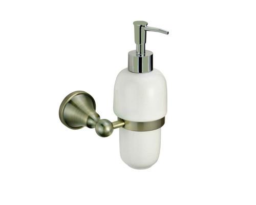 BR83427 Zollen BREMEN Дозатор жидкого мыла настенный, бронза.