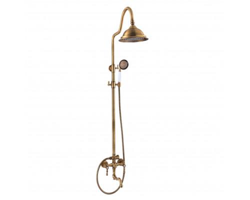 CA.890-650.BR Cantino Fer Душевая система, верхний душ, с изливом, механическое переключение потоков, бронза.