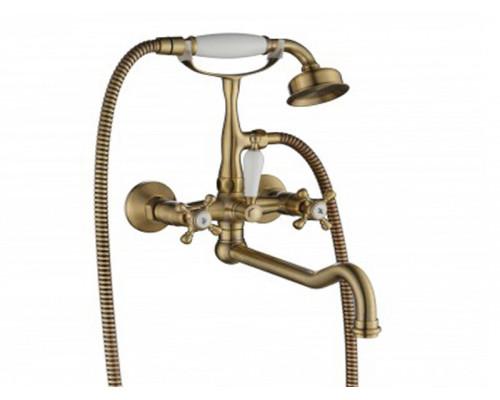 Cмеситель для ванной Lucia 201 BR Aksy Bagno друхвентильный цвет бронза