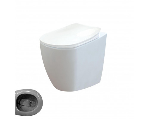 FE350.00000 Creavit Free Унитаз приставной совмещенный с биде, с крышкой, керамика, белый.