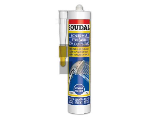 Герметик силикон санитарный бесцветный 280 мл Soudal