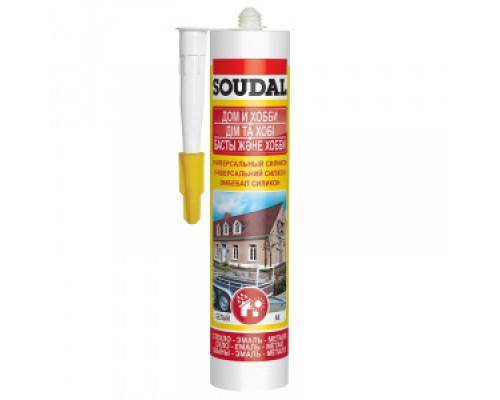 Герметик силиконовый Soudal универсальный белый 280 мл