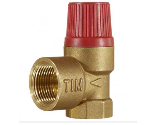 Клапан предохранительный Tim 1/2х1/2 г/г 3 бара BL22FF-С