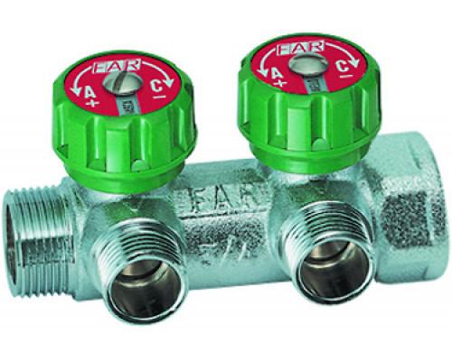 Коллектор FAR 1 х 1/2 с 2-мя вен. (FK 3821  112TP)