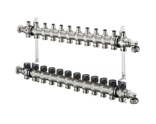 Коллектор с регулятором встроенным 12 х G3/4 Oventrop