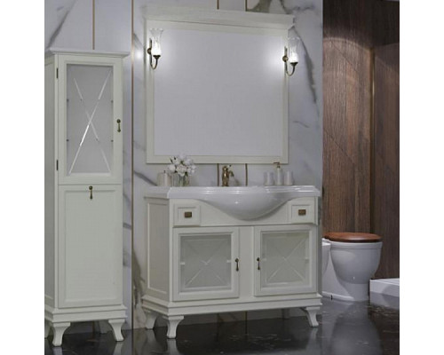 Комплект мебели для ванной комнаты Opadiris Борджи 105 цвет слоновая кость
