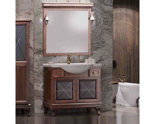 Комплект мебели для ванной комнаты Opadiris Борджи 85 цвет светлый орех