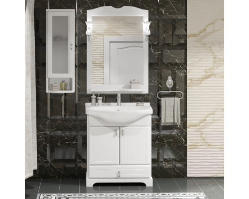Комплект мебели для ванной комнаты Opadiris Клио 65 цвет белый матовый