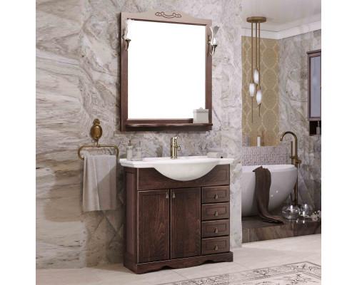 Комплект мебели для ванной комнаты Opadiris Клио 70 цвет орех антикварный