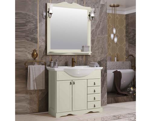 Комплект мебели для ванной комнаты Opadiris Клио 80 цвет слоновая кость
