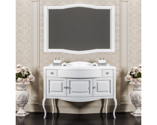 Комплект мебели для ванной комнаты Opadiris Лаура 120 цвет белый матовый