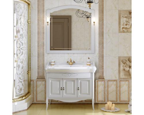 Комплект мебели для ванной комнаты Opadiris Лоренцо 100 цвет белый матовый