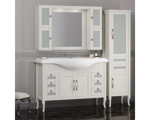 Комплект мебели для ванной комнаты Opadiris Мираж 120 цвет слоновая кость