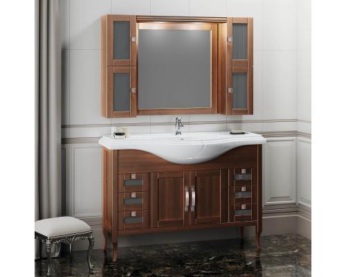 Комплект мебели для ванной комнаты Opadiris Мираж 120 цвет светлый орех