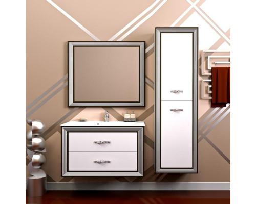 Комплект мебели Opadiris Карат 100 цвет белый глянцевый серебряная патина