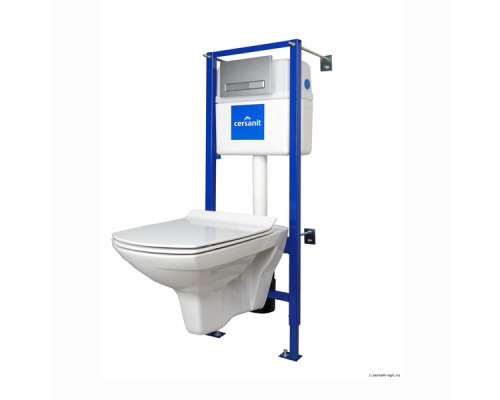 Комплект унитаз с инсталляцией Cersanit CARINA NEW CLEAN ON S-SET-CARC/LPRO/S-DL/Cm-w