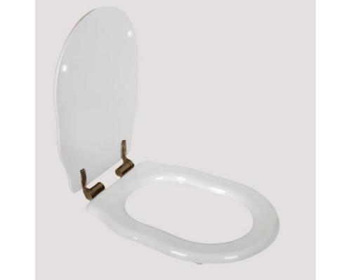 Крышка-сиденье Tiffany World Bristol TWBR73bi/br цвет белое/бронза, микролифт