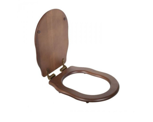 Крышка-сиденье Tiffany World Bristol TWBR76noce/br цвет орех/бронза, микролифт