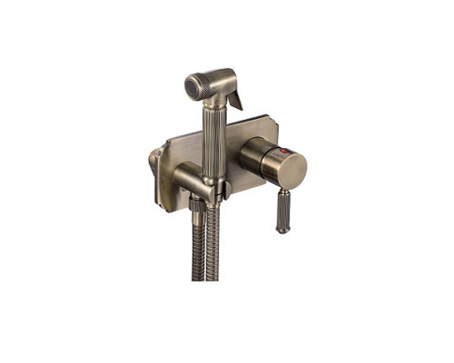 LB403001 Landberg Gigin Гигиенический набор, смеситель, душетка, шланг, бронза.