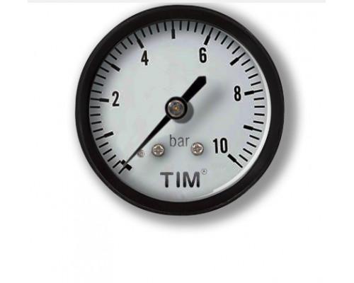 Манометр Tim 10 бар аксиальный