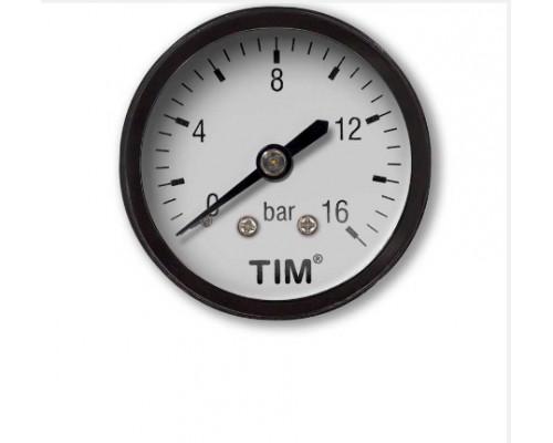 Манометр Tim 16 бар аксиальный