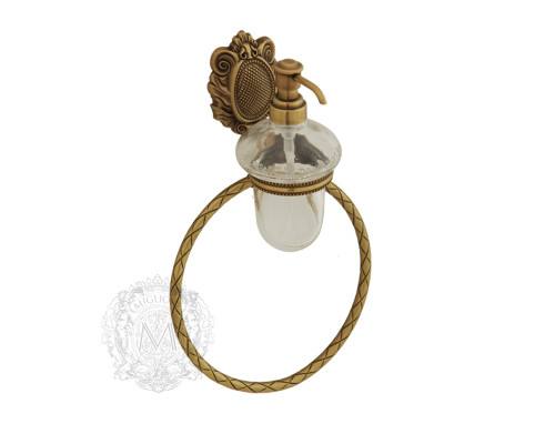 ML.CLE-60.716 BR Migliore Cleopatra Дозатор настенный с кольцом, бронза.