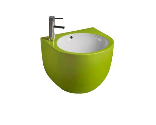 MLN-500FGW Melana Раковина подвесная, полукруглой формы, размер 49,5 см., цвет зеленый.