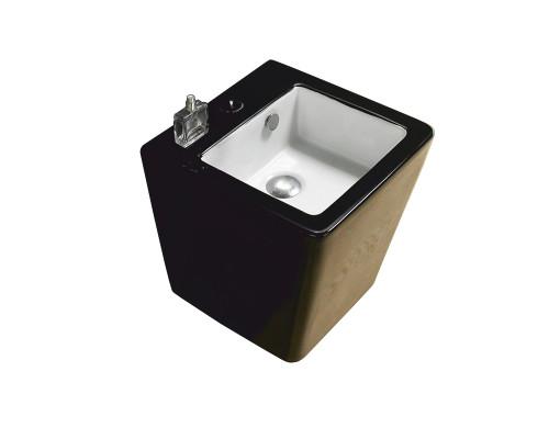 MLN-500VBW Melana Раковина подвесная, прямоугольной формы, размер 37,5 см., цвет черный.
