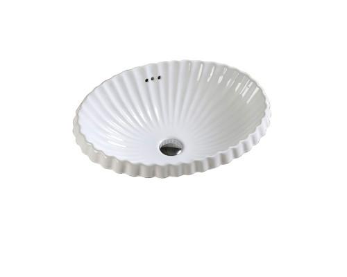 MLN-509 Melana Раковина встраеваемая сверху, овальной формы, размер 56 см., цвет белый.