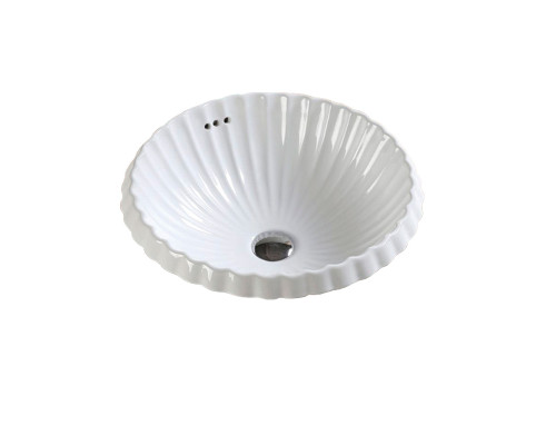 MLN-510 Melana Раковина встраеваемая сверху, круглая форма, размер 45,5 см., цвет белый.