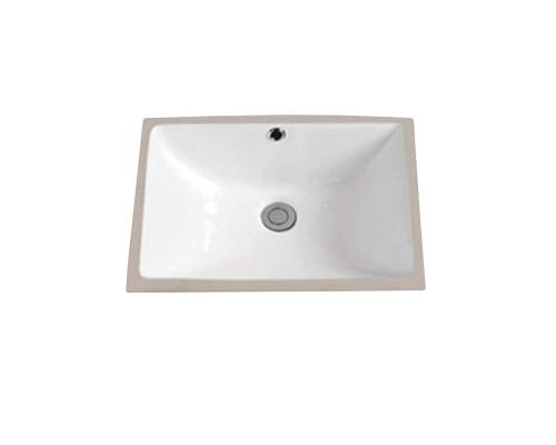 MLN-540N Melana Раковина встраеваемая снизу, прямоугольная форма, размер 48 см., цвет белый.