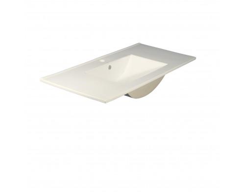 MLN-8004_1000 Melana Раковина встраеваемая сверху, форма правильная прямоугольная, размер 100 см., цвет белый.